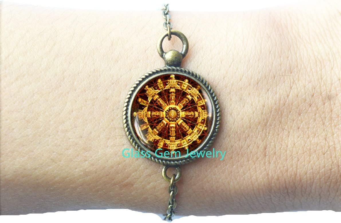 Tibetan Peace Eyes of Buddha Buddhist Keychain