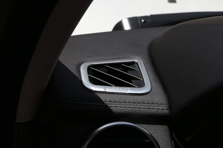 Accesorio Interior para veh/ículo automotriz Cubierta de Salida de Aire 2 pcs//Set Plata pl/ástico ABS para LR4 Discovery 4 Sport 2010-2013 salpicadero ventilaci/ón Marco Decorativo