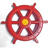 Volant taille XXL rouge pour tour de jeux, Gouvernail pour enfants de Gartenpirat®