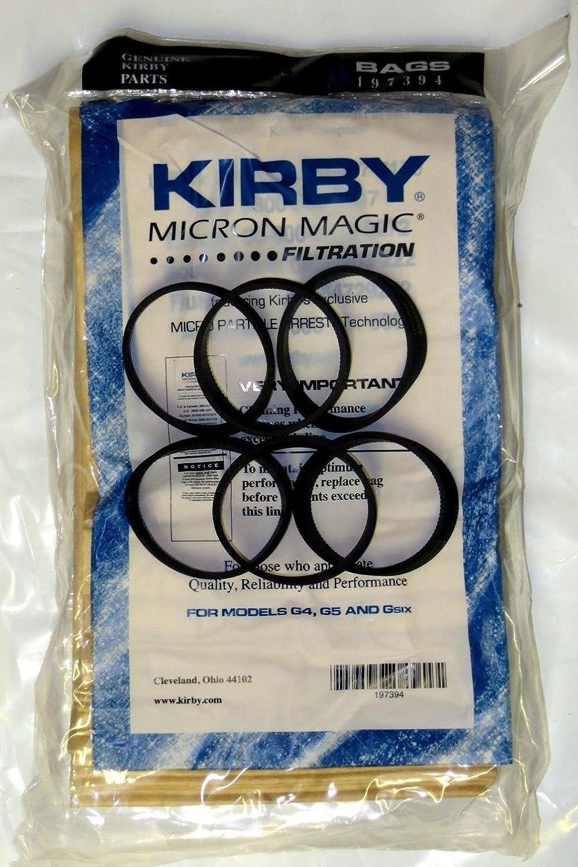 Kirby 6 Belts 9 Sentria Micron Magic G3-6 UG Vacuum Bags
