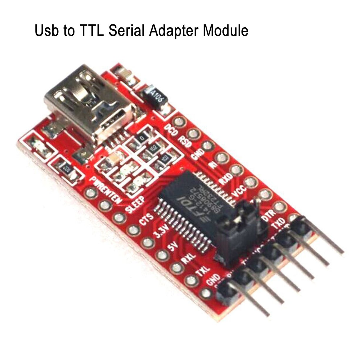 Makerfocus FT232RL FTDI USB to TTL Serial Adapter 3 3V 5 5V