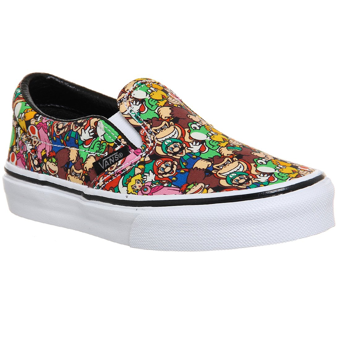 Vans Classic Slip-On Nintendo Super Mario Brothers Leather Skateboarding Shoe - 7.5M/6M