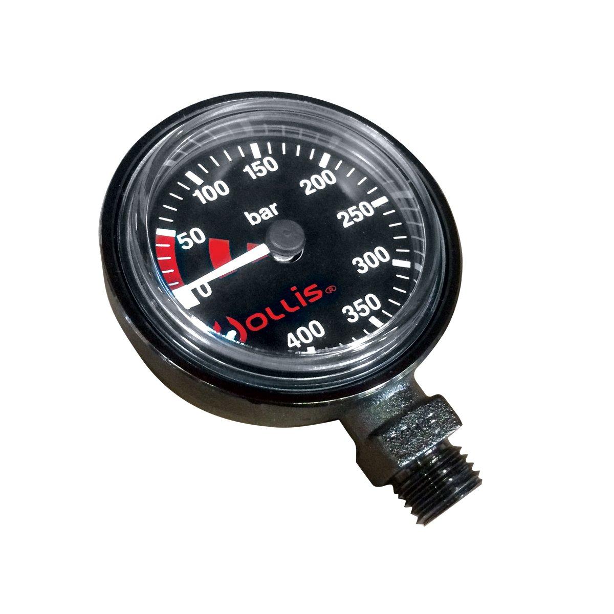 Hollis Pressure Gauge Module Bar Low Profile BLK-Metal w/o Boot
