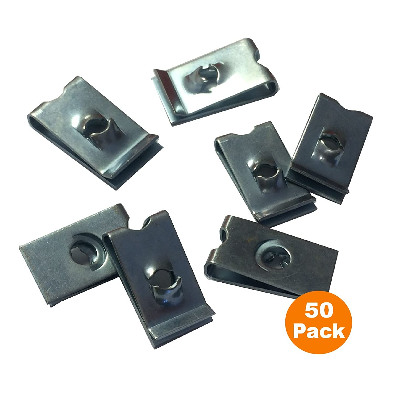 M4 50 x Metric Speed Fastener U Nuts Interior Trim Panel Self Tapping Screw Spire Clips