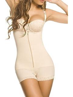 743884ee372 YIANNA Women Body Shaper Seamless Tummy Control Shapewear Open Bust Slimmer  Belly Bodysuit