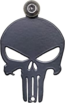 MADE IN THE USA! Kustom Cycle Parts Universal Blue Line American Flag Punisher Skull Bell Hanger With Bell Gun Metal Bell Fits all Harley Davidson Motorcycles /& More Bolt and Ring Included