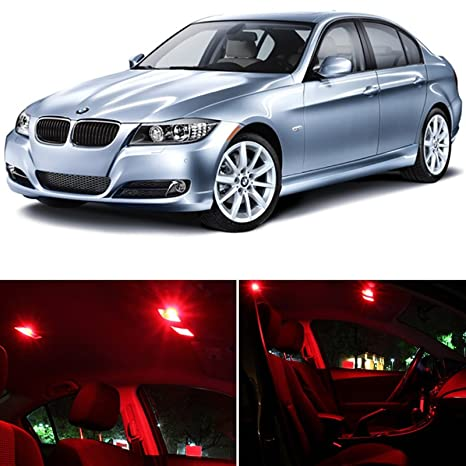 LEDpartsNOW BMW 3 Series E90 E92 M3 2006 2012 Red Premium LED Interior  Lights Package