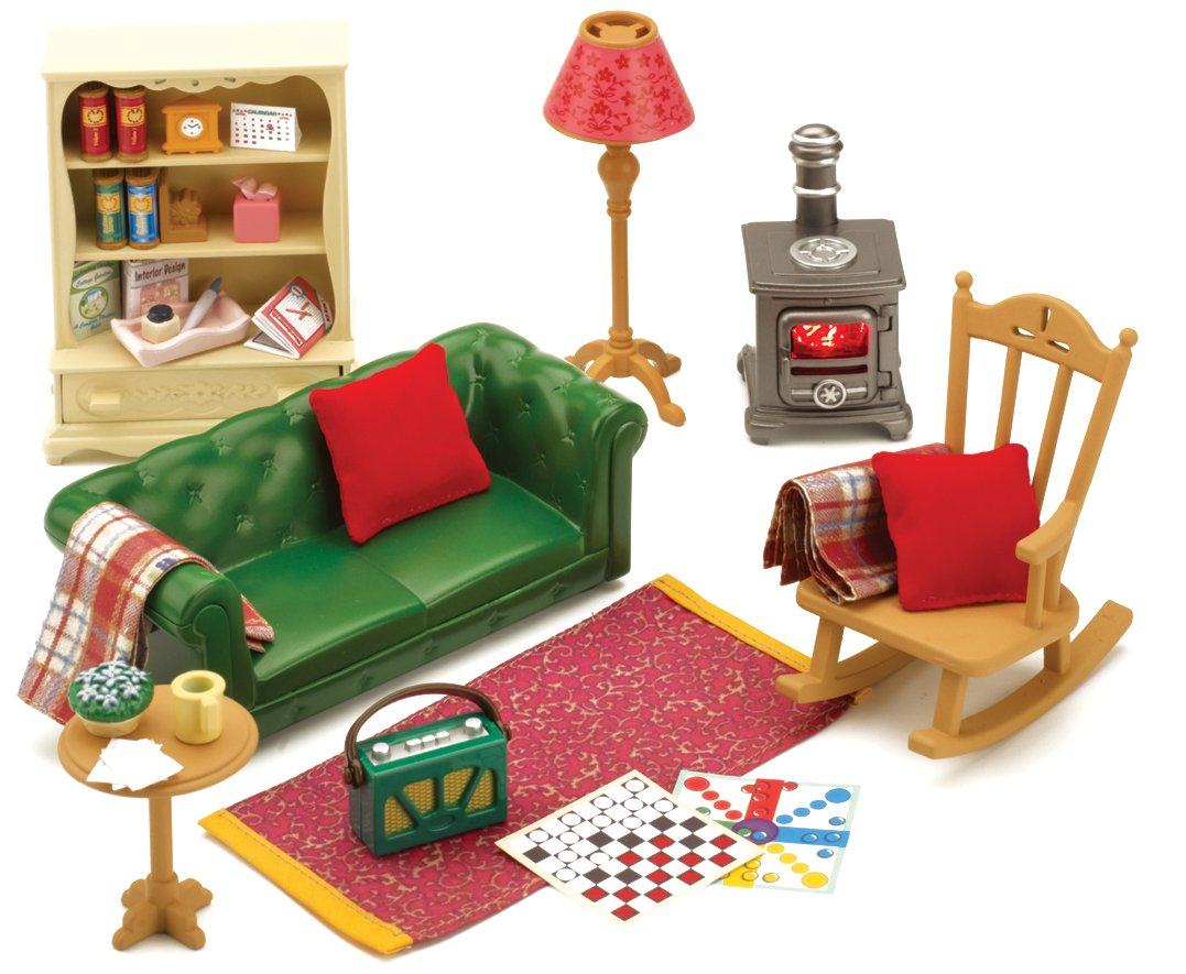 Sylvanian families cosy living room furniture amazon co uk toys games
