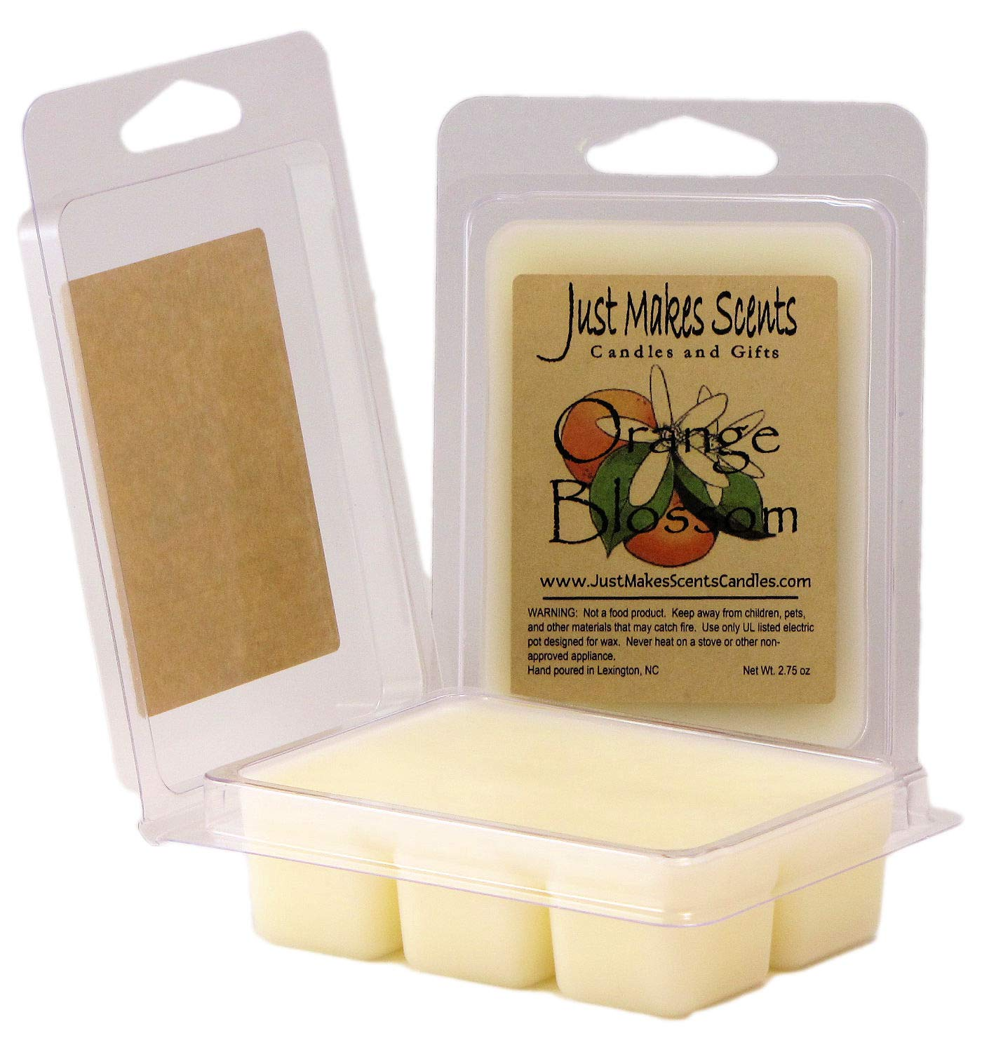 Just Makes Scents 2 Pack - Orange Blossom Scented Soy Wax Melts | Long Lasting Orange Tree Flower Fragrance | Hand Poured in the USA Candles & Gifts