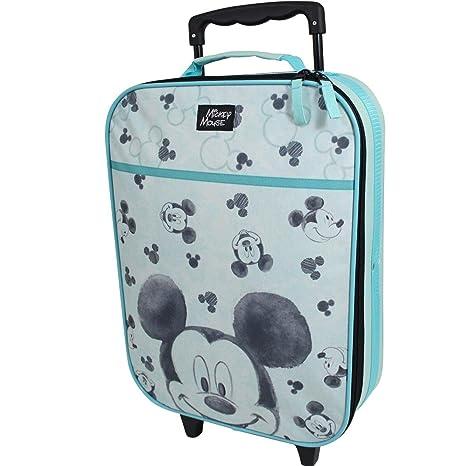 Maleta para niños Maleta Carrito Equipaje de Mano Bolsa Disney Mickey Mouse