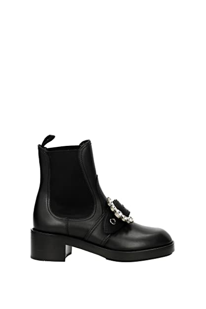 28ebea26fd8 Miu Miu Ankle Boots Women - Leather (5T169BVITMONTANA5NERO) 7 UK   Amazon.co.uk  Shoes   Bags