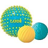 Ludi - 30021 - 3 Balles Sensorielles - Bleues