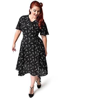 1940s black dress plus size