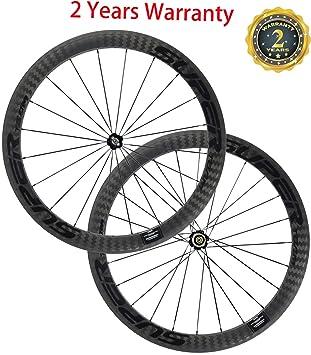 FidgetGear Superteam - Ruedas de Carbono para Bicicleta de Carretera (50 mm): Amazon.es: Deportes y aire libre