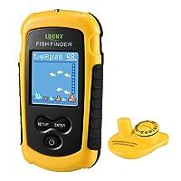 LUCKY Fischfinder Wireless Farbe Tragbarer Portable Angeln Sonar Sensor Verkabelt LCD Tiefe Finder Echolot