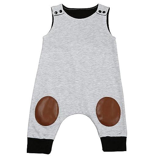 ab71974b2 Amazon.com  HappyMA Infant Toddler Baby Boy Romper Summer Jumpsuit ...