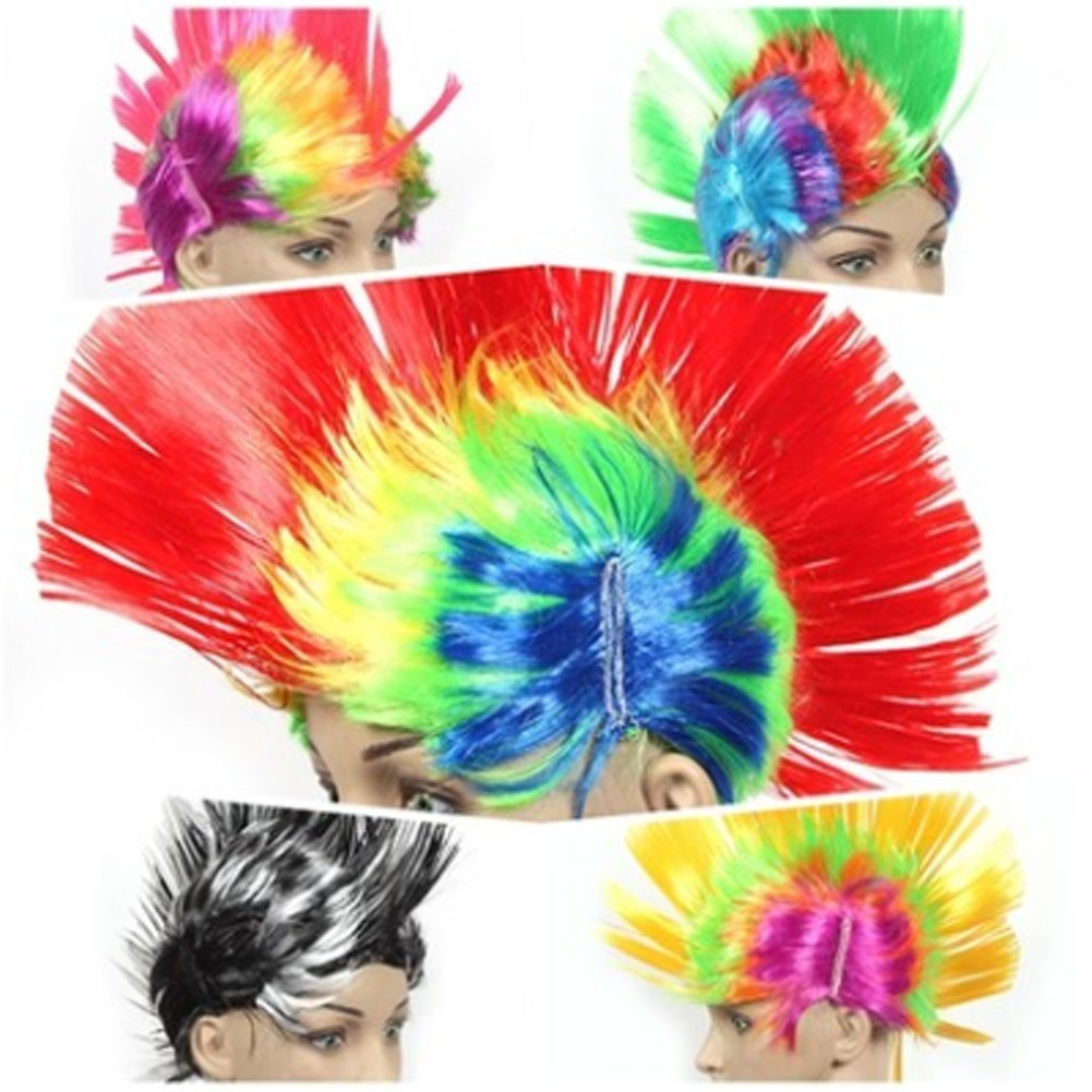 Halloween Costume Party Wigs MOHAWK Hair Punk Dress up, RED