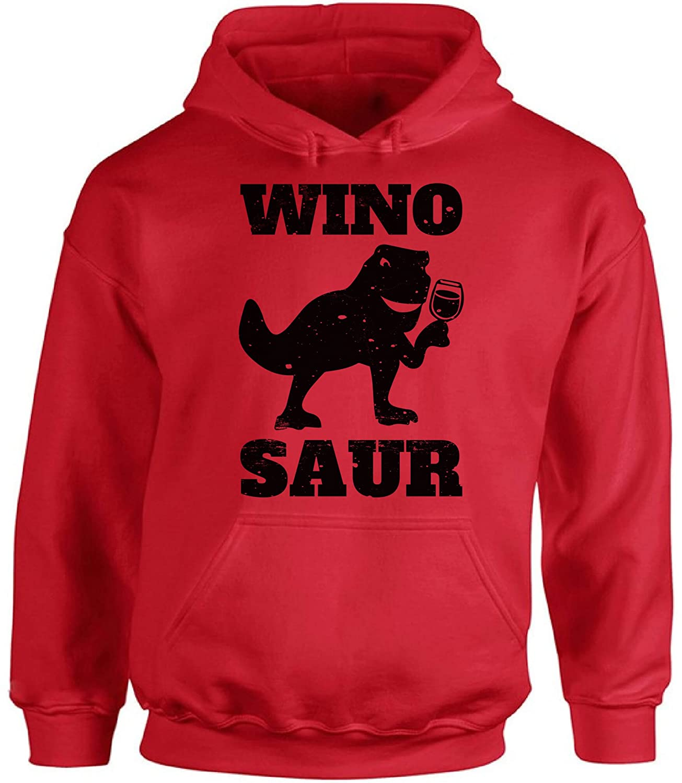 Awkward Styles Unisex Wino Saur Wine Hoodie Hooded Sweatshirt Black Cool Vintage Winosaur