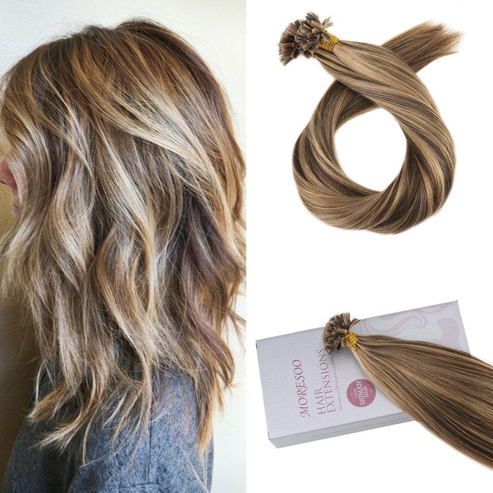 Amazon Moresoo 20 Inch Fusion Hair Extensions Real Human Hair