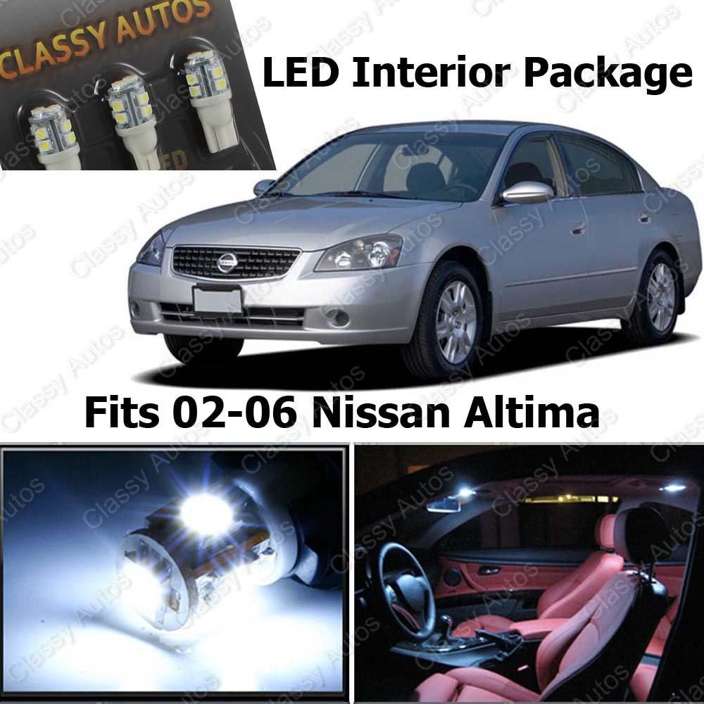 Amazon Classy Autos Nissan Altima White Interior LED Package 7 Pieces Automotive