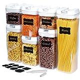U-miss - Juego de 6 recipientes herméticos para almacenamiento de alimentos, todos los mismos tamaños, contenedores…