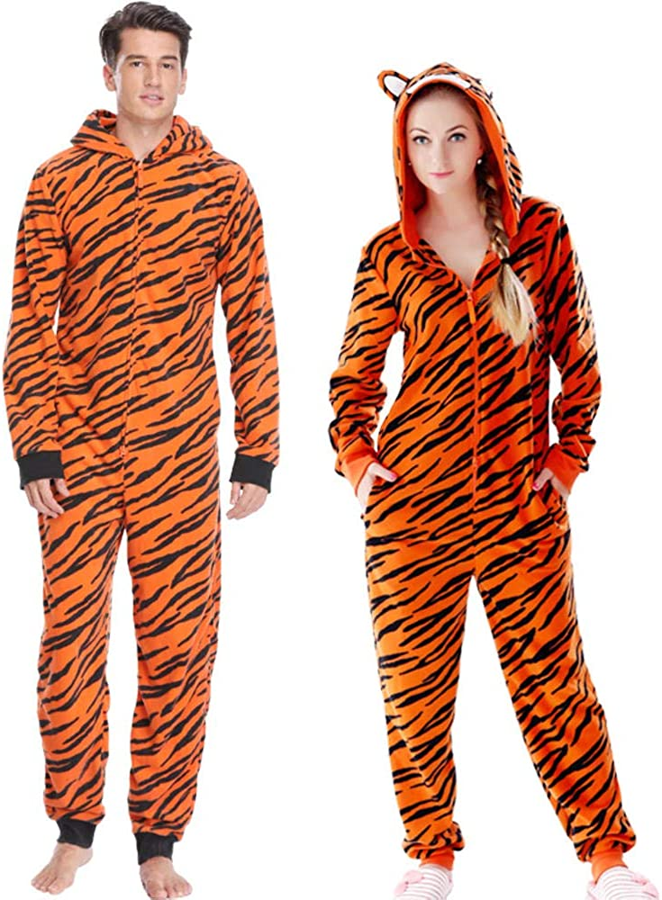 Fleece Tiger Pyjamas Mujeres Stitch Onesie Disfraces de ...