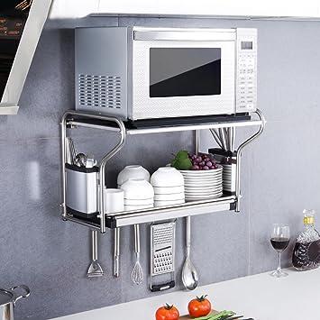 Wandregale, Edelstahl Küchenregal, Küchenregal Mikrowelle Regal ...