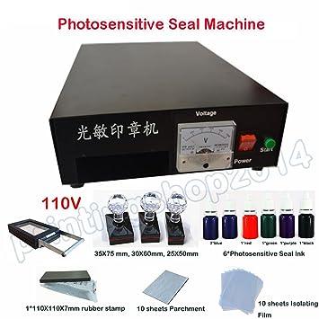 Professional Self Inking Flash Stamp Seal Maker Engraver Photosensitive Engraving Machine 110V Amazonca Home Kitchen