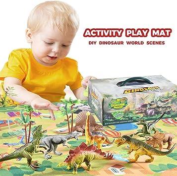 Conjunto de juguete de dinosaurio de simulación para niños TwoCC ...