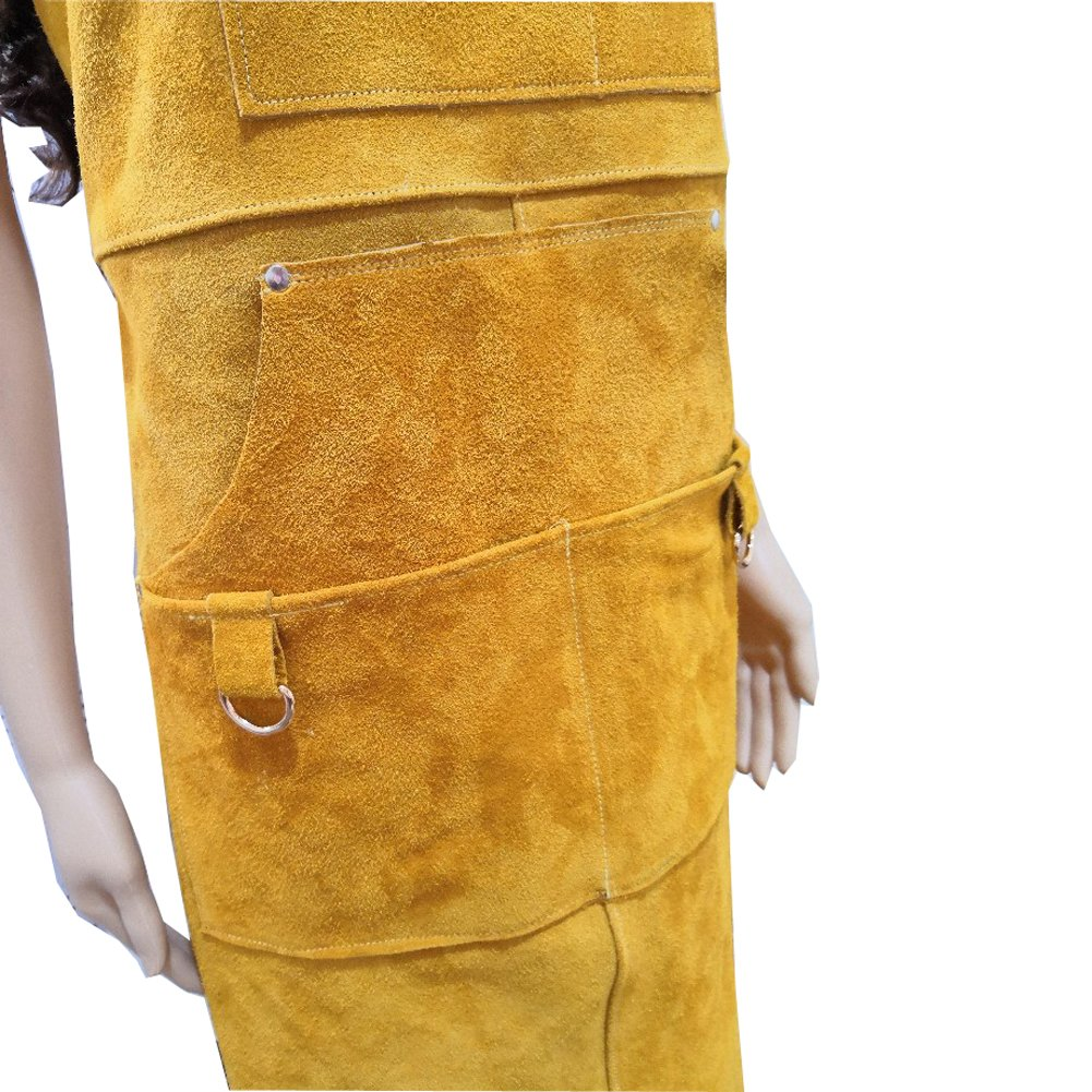 A Leather Welding Apron Protective Clothing For Welders –Heavy Duty Heat & Flame-Resistant Work Apron Tool Apron With 5 Pocket For Men And Women Welding Barbecue Grinding(HSW-112) by Hersent (Image #4)
