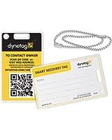 Dynotag Web/GPS enabled QR Smart Fashion Luggage Tags - 2 IDENTICAL Tags+Chains
