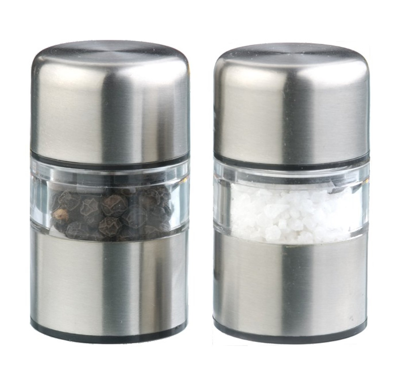 DMD Stainless Steel Mini Gem Salt and Pepper Mill Set DM1001106991SET