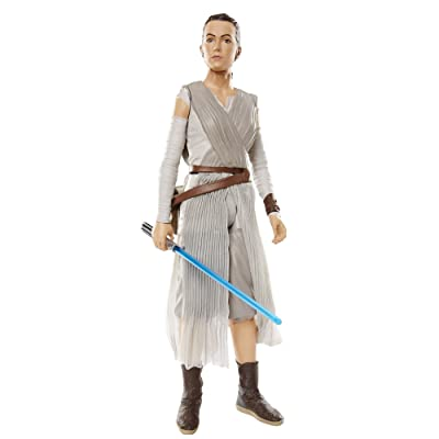 "Star Wars Big Figs Episode VII 18"" Rey with Lightsaber Action Figure: Toys & Games"