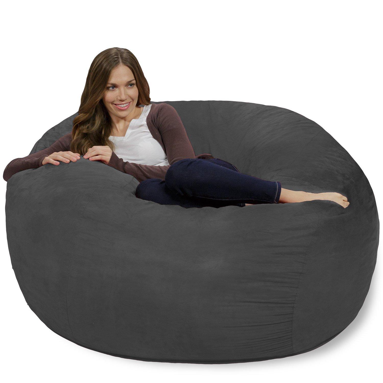 Chill Sack Memory Foam Bean Bag Chair 4 Feet Charcoal