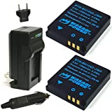 Wasabi Power Battery (2-Pack) and Charger for Kodak LB-080 and Kodak PIXPRO SP1, SP360