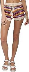 94fc8946574b Darah Dahl Striped Crochet Shorts