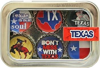 Kate Grenier Designs Texas Bottle Cap Magnets