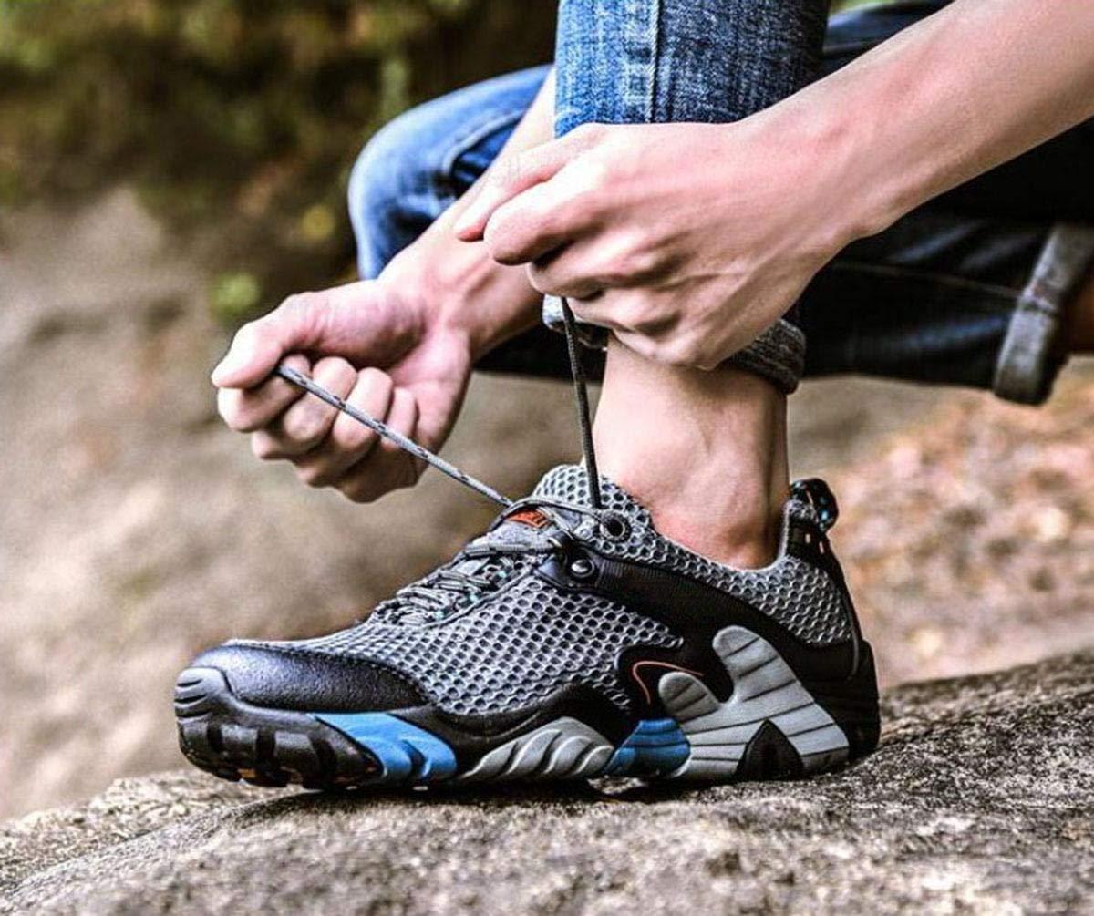 HhGold SportsSummer SportsSummer SportsSummer Sportschuhe Freizeitschuhe Herrenschuhe Rutschfeste Mesh - Schuhe Outdoor - Wanderschuhe (Farbe   Grau, Größe   44) a471ba