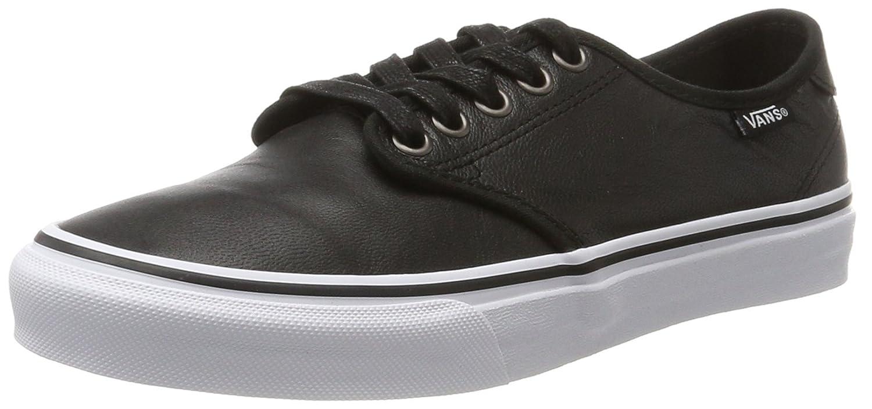 Vans Camden Deluxe, Zapatillas de Entrenamiento para Mujer 38.5 EU Negro (Leather)