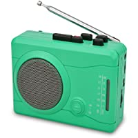 DIGITNOW Cassette Player,Personal Walkman Tape and Voice Recorder for Convert Cassette Tape To MP3 Via USB& digital Audio Music to Tapes with Wireless AM/FM Radio,MIC in and Earphone(Green)