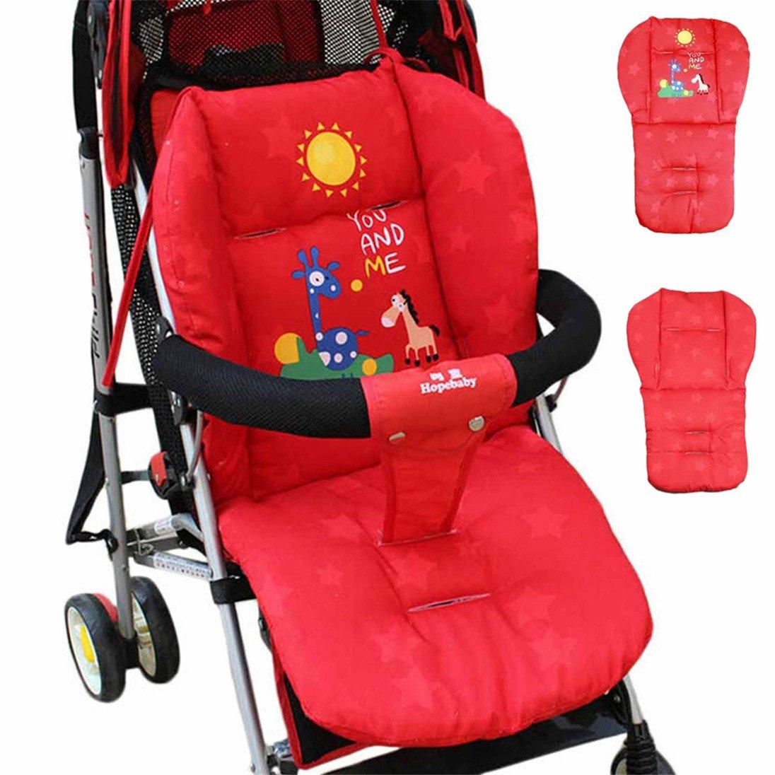 originaltree Baby Cochecito Cojín caliente Mat Almohadilla de Asiento para cochecito saco para bebés 0 – 36 meses rojo rosso Talla:talla única