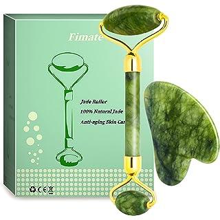Jade Roller and Gua Sha Kit, NEESTARTLY Anti-aging Natural Facial Jade Stone Roller Set - Face Massager, Facial Roller…
