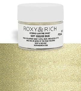 Roxy & Rich Hybrid Luster Dust Powder Food Color, Soft Gold 2.5 Grams