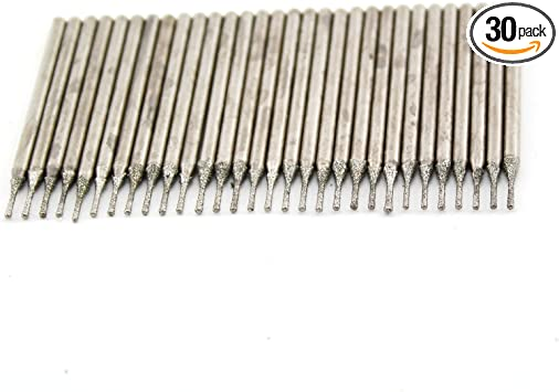 20 pieces 1MM Diamond coated tipped SOLID BITS drill drills bit hole saw