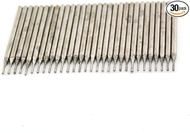 20 Pieces 0.9mm Head Dia Lapidary Diamond Coated Drill Bit Hole Saw Tool Bits