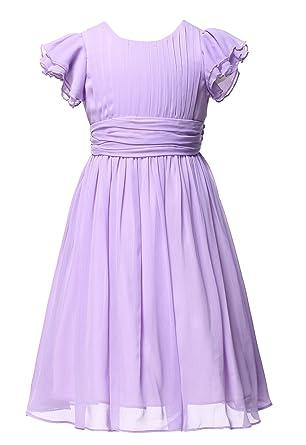 ae16de51c76 HAPPY ROSE Flower Girl s Dress Prom Party Dresses Bridesmaid Dress Lavender  8