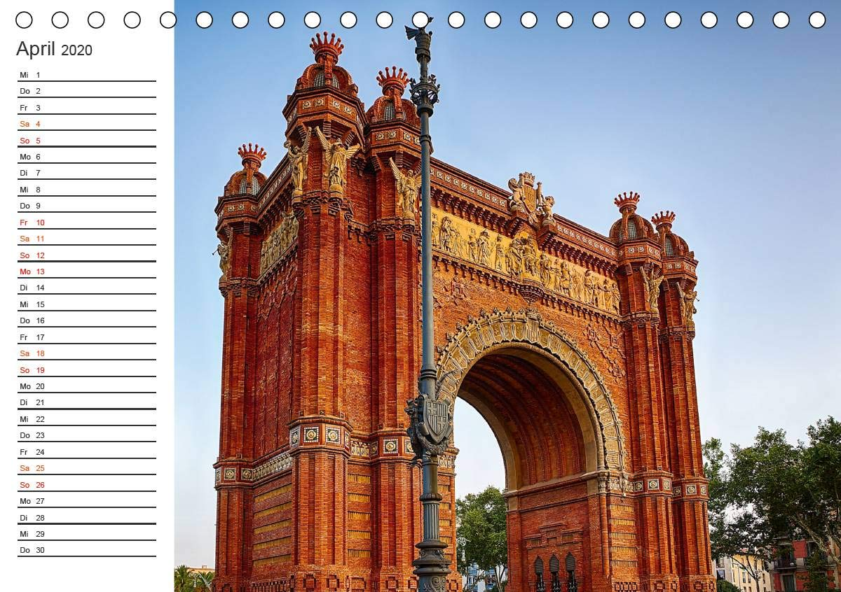 Meutzner, D: Metropole Barcelona Tischkalender 2020 DIN A5 ...