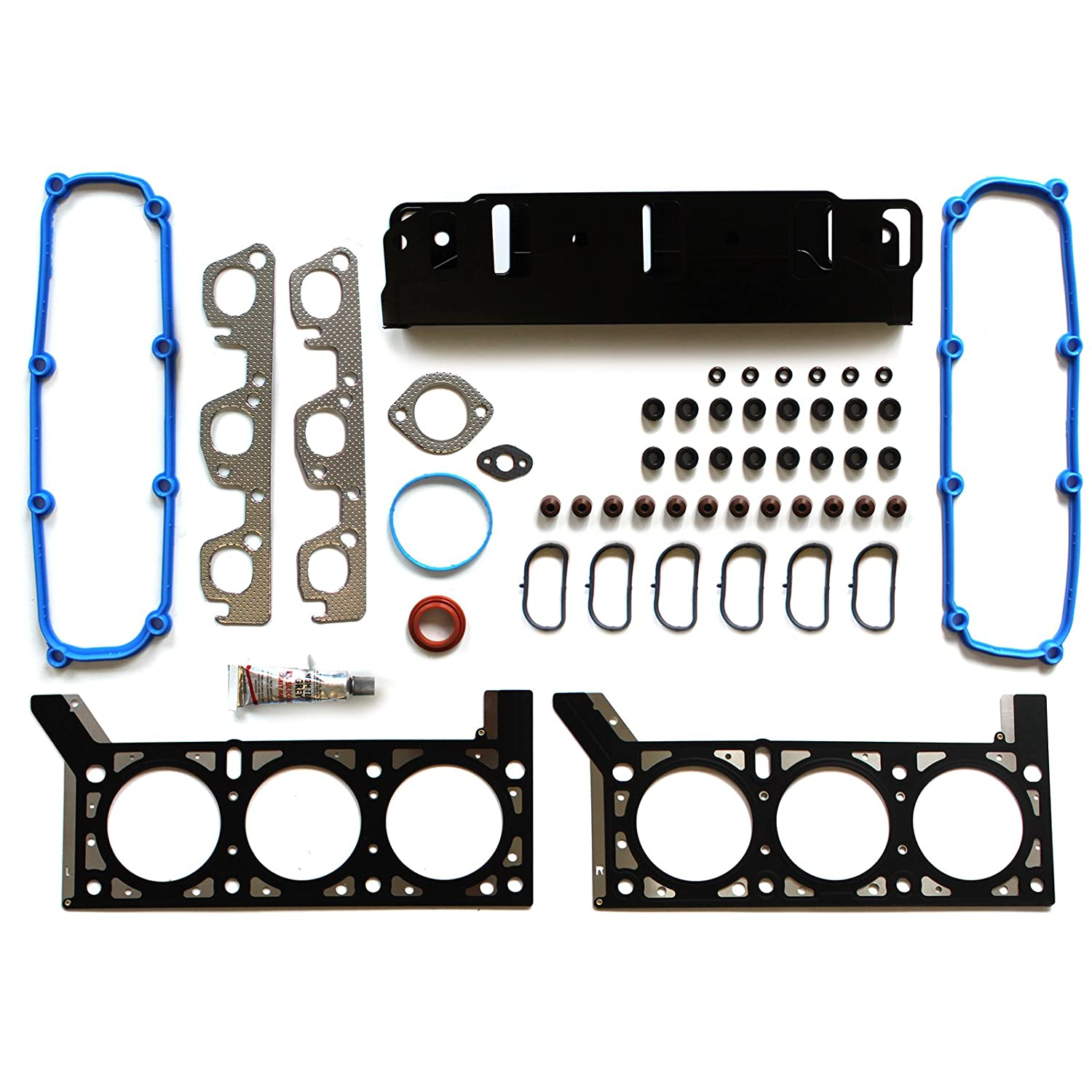 ECCPP Replacement for Head Gasket Set for 2007-2011 Jeep Wrangler V6 VIN 1 12V 3.8L Engine Head Gaskets Kit