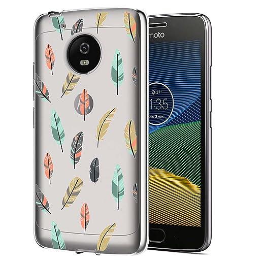 6 opinioni per Moto G5 Plus Custodia, ocketcase® Morbido Flessibile TPU Gel Silicone Cover Case