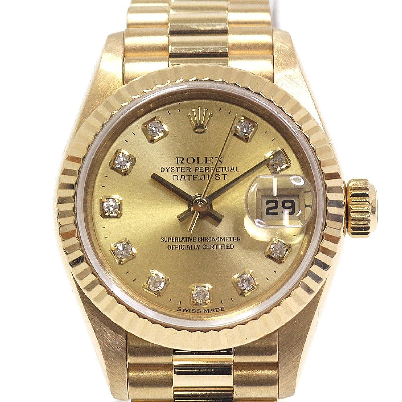 [ロレックス]ROLEX レディース腕時計 デイトジャスト 79178G A番(1999年製) 10Pダイヤ シャンパン文字盤【中古】 B07F3RHL4D